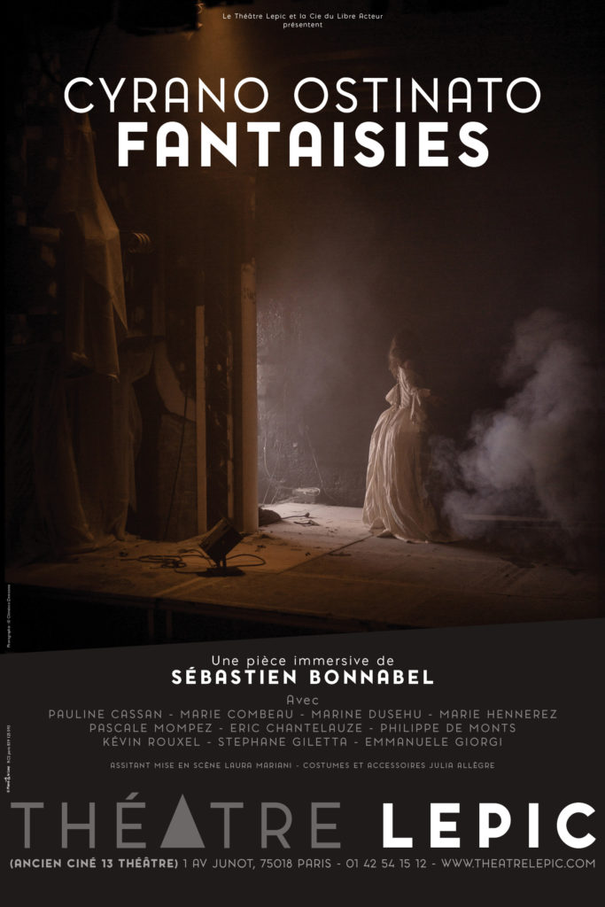 AFFICHE spectacle cyrano ostinato fantaisies